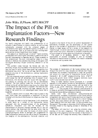 The Impact of the Pill... by John Wilks